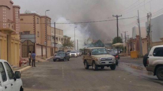 الصورة التي بثتها قناة الإخبارية السعودية