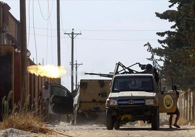 المعارك على أطراف العاصمة الليبية