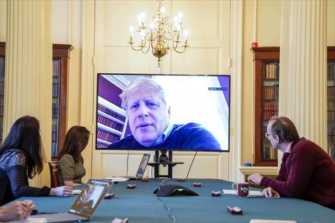 رئيس الوزراء البريطاني بوريس جونسون في الحجر الصحي - المصدر: وكالة الأنباء الألمانية