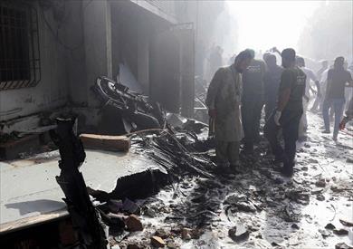 تحطم الطائرة الباكستانية
