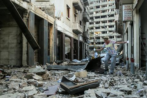 صورة أرشيفية من انفجار مرفأ بيروت