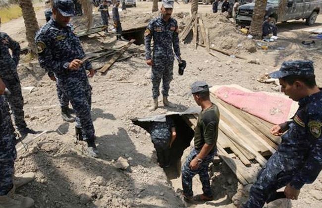القوات العراقية تعثر على نفق داعشي - صورة أرشيفية