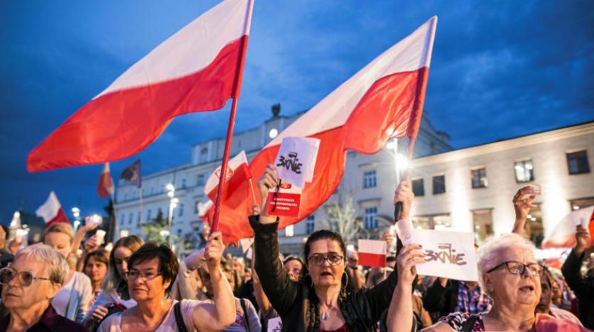 مظاهرات بولندا