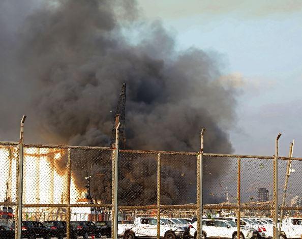 انفجار في بيروت العاصمة اللبنانية