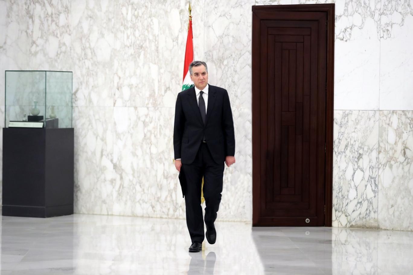 الدكتور مصطفى أديب رئيس الوزراء المكلف في لبنان