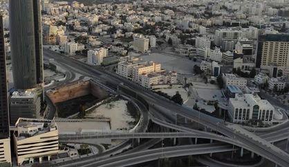 شوارع عمان خالية تماما في يوم الحظر الشامل