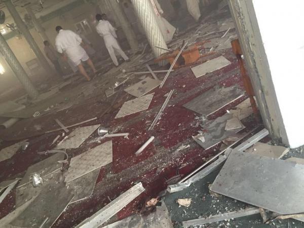 إحدى الصور المتداولة للحادث على المواقع الإخبارية السعودية