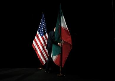 علم إيران وأمريكا