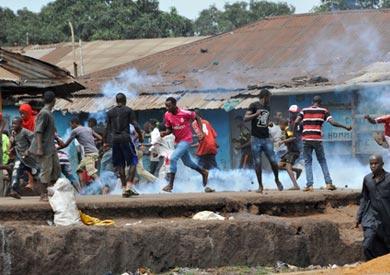 مواجهات بين متظاهرين والشرطة بغينيا