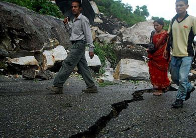 زلزال يضرب نيبال