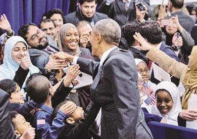 زيارة أوباما لمسجد بالتيمور