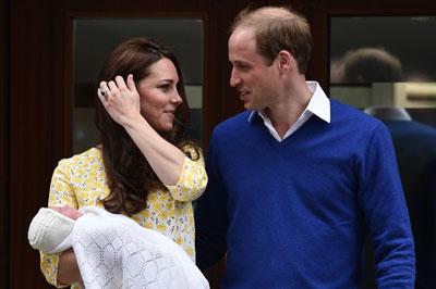 «قصر كنسنجتون» يعلن اسم المولودة الجديدة للأمير «ويليام» و«كيت ميدلتون»