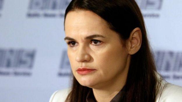زعيمة المعارضة البيلاروسية سفيتلانا تيخانوفسكايا