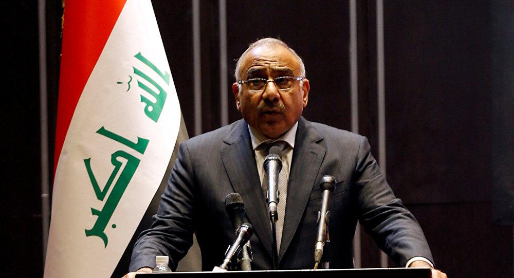 رئيس مجلس الوزراء العراقي عادل عبد المهدي