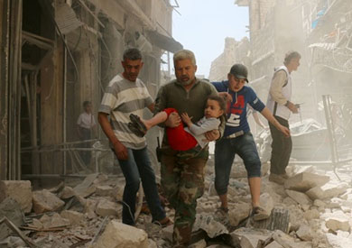 الغارات الدامية فى حلب