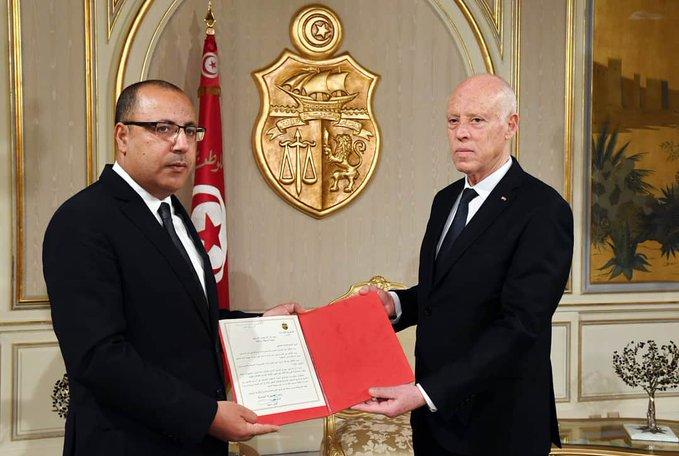 الرئيس التونس ورئيس الوزراء هشام مشيشي