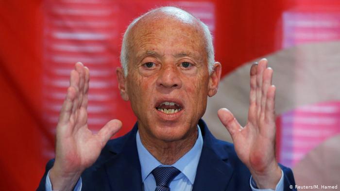قيس سعيد المرشح الفائز بمقعد رئاسة الجمهورية التونسية