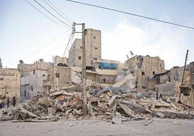 الغارات السورية الروسية أدت لتسوية مبان بالأرض في أحياء حلب الشرقية