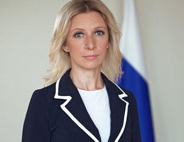 المتحدثة الرسمية للخارجية الروسية ماريا زاخاروفا