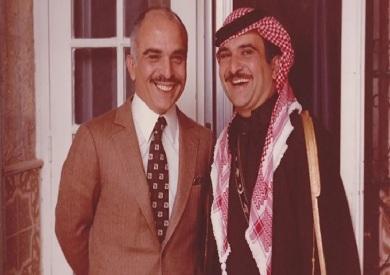 الحسن بن طلال مع أخيه العاهل الأردني الراحل