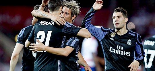 ريال مدريد يقهر غرناطة ويواصل مطاردة برشلونة في الليجا