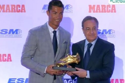 رونالدو يحصد الحذاء الذهبي  للمرة الرابعة على التوالي