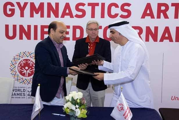 بالصور- بروتوكول تعاون بين إتحاد الجمباز ودولة الإمارات لدعم الأولمبياد الخاص -          بوابة الشروق