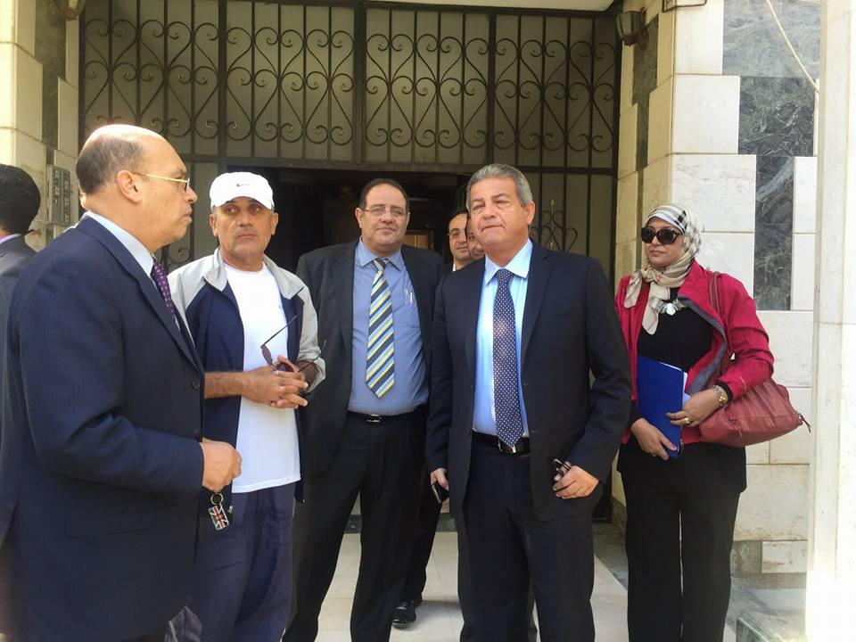 وزير الرياضة يتفقد المقر الجديد للمنظمة المصرية لمكافحة المنشطات